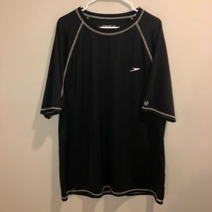 Speedo UV Blockthburn Summer Pool Shirt Black